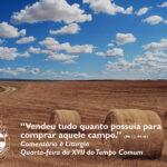 """Liturgia de Quarta-feira da XVII Semana do Tempo Comum – """"Vendeu tudo quanto possuía para comprar aquele campo."""" (Mt 13, 44-46)"""