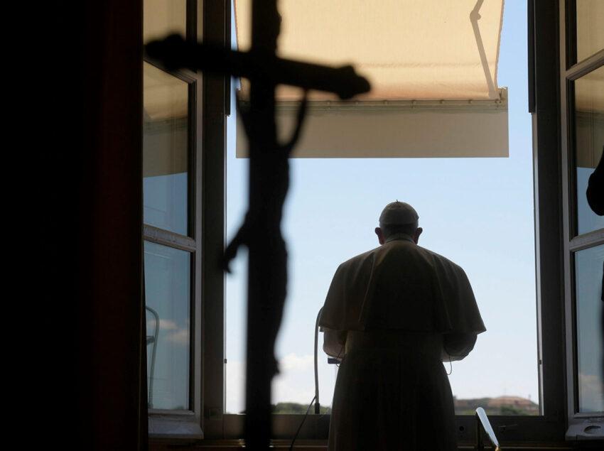 Pope Francis leads the Regina Coeli prayer