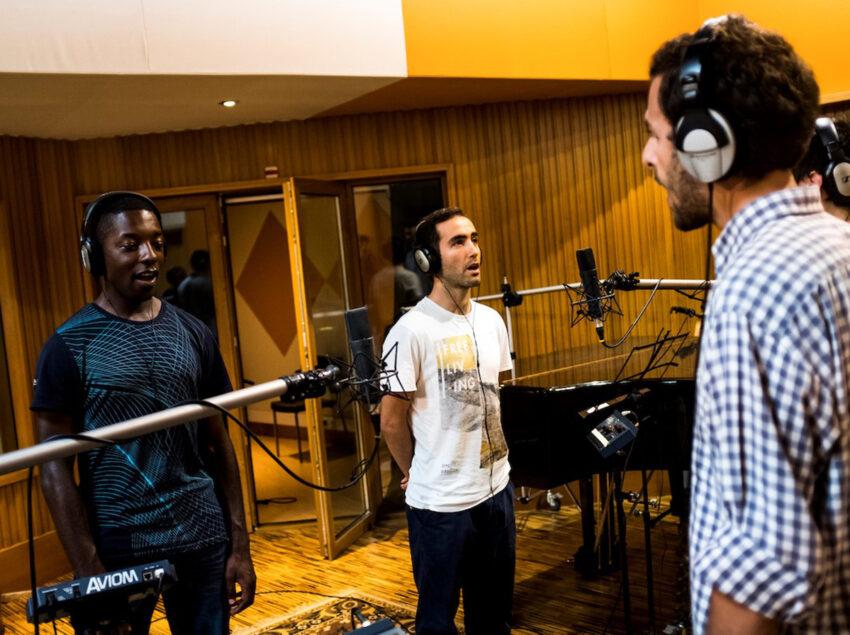 Gravação do hino das Jornadas Mundiais da Juventude em Lisboa 2023. As gravações decorreram no Canôa studios e os ensaios no externato de Penafirme, durante a pandemia da Covid-19 (coronavírus).Torres Vedras, 05 de Agosto de 2020.FILIPE AMORIM