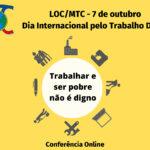 LOC/MTC: Trabalhadores Cristãos celebram Dia Internacional pelo Trabalho Digno com conferência online